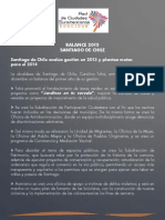 Balance de Gobierno 2013 - Santiago de Chile