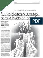Reglas Claras y Seguras Para La Inversion Privada - Ernesto Alvarez Miranda
