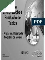 ADMN-2_1-Leitura, Interpretação e Produção de Textos-Aula 2-Un1