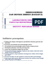 06. Embriogenesis Dan Induksi Embrio Bagian II 2011