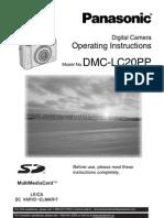 Camera Digital - Manual Panasonic Lumix Dmc-lc20