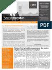 Hiver/printemps 2013 — Bulletin parlementaire de Tyrone Benskin, version française