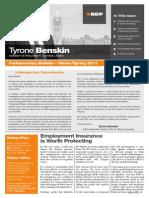 Winter/Spring 2013, parliamentary bulletin, English version - Tyrone Benskin