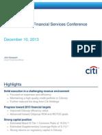 Citibank CFO Presentation