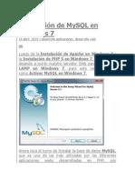 Instalación de MySQL en Windows 7