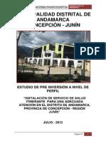 Instalacion de Servicios de Salud Andamarca