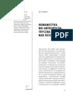 Domanska, Humanistyka Nie-Antropocentryczna a Studia Nad Rzeczami