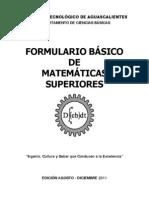 FORMULARIO MATEMÁTICAS SUPERIORES v2012