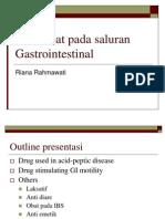 Dr.riana R Obat-Obat Pada Saluran Gastrointestinal