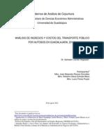 Analisis de Ingresos Gastos Del Transporte 31 Agosto 2012
