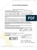 Affidavit of AdversePossession