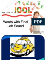 Words with Final -ab Sounds