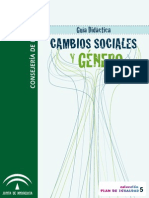 Cambios sociales y género. Guía Didáctica.