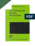 La Sociologia Del Derecho de Max Weber