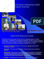 WIH Resource Group OPA Overview