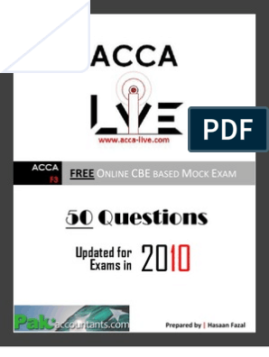 www acca-live com   Free CBE ACCA F3 Financial Accounting
