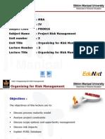 Organising for Risk Management