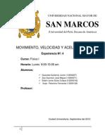 Informe #4 Movimiento de Una Particula