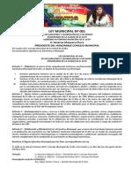 Ley Municipal El Alto Aniversario