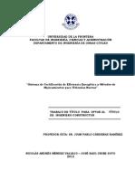 Sistema de Certificación de Eficiencia Energética y Métodos de Mejoramientos para Viviendas Nuevas
