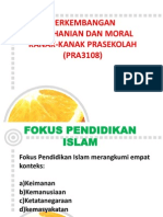 Minggu 2- Fokus Pendidikan Islam Dan Penerapan Nilai