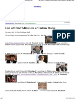 List of Chief Ministers of Indian States _ India, World Snap News