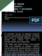 PRESENTACION RESEÑA DE PENSAR HISTORICAMENTE