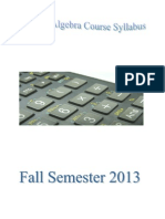 Fall Semester 2013 Mac 1105 Master Syllabus
