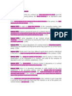 1. Interpretation of Contracts