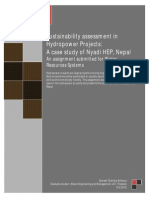 Sustainibility Assessment in Hydropower Project-A Case Study of Nyadi HP