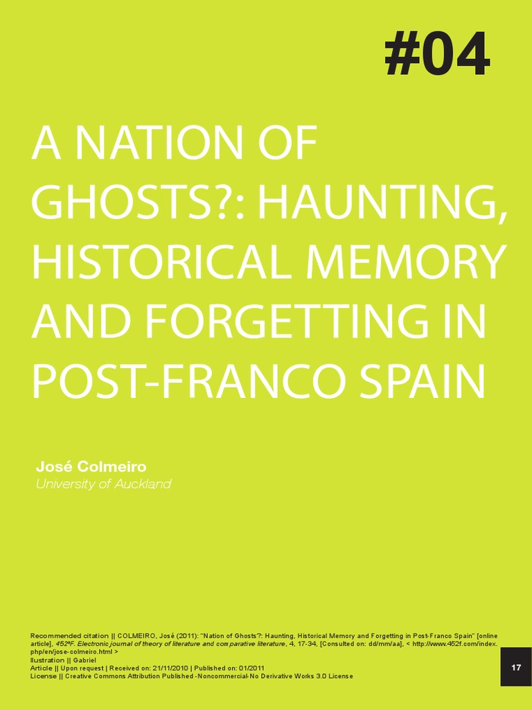 Nation of Ghosts | Identity (Social Science) | Cultural Studies