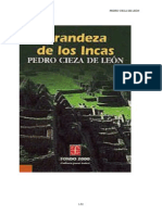 Cieza de León, Pedro- Grandeza de los Incas