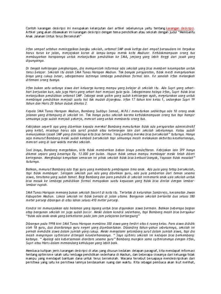 Paragraf Deskripsi Tentang Sekolah Lgg4 Info