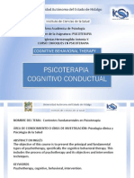 Enfoques en Psicoterapia Cog Cond