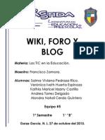 wiki foro y blog