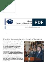 Gavin Keirans —Board of Trustees Platform