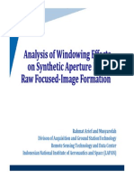 Windowing Effect on SAR Image Formation