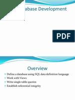SQL Database Development Part-1