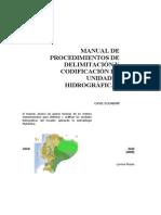 Metodologia Pfafstette Delimitacion Uh Manual