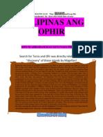 PILIPINAS ANG OPHIR