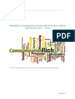 Global Rich Communication Services (RCS) Market Analysis and Forecast (2013 – 2018)