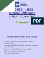 Glimpses of 28 Internal QMS Audit