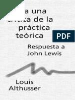 Althusser Louis - Para Una Critica de La Practica Teorica [PDF]