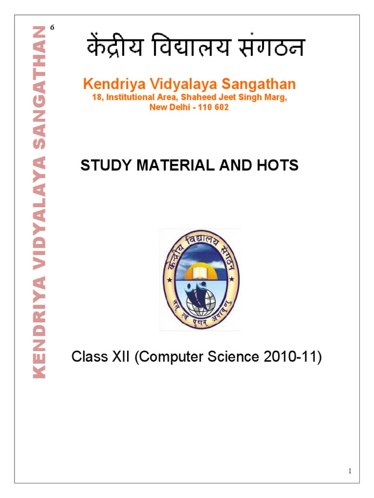 cs class 12th notes kv constructor object oriented programming