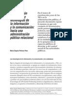 Participación Ciudadana y Administración Pública Relacional