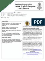 BCC-IEP Newsletter January 20-31