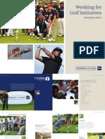 Ra Working for Golf Brochure