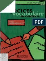 181128004 Exercices Vocabulaire en Contexte PDF