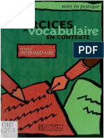 181128004 Exercices Vocabulaire en Contexte PDF