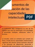 Instrumentos de evaluación de las capacidades intelectuales